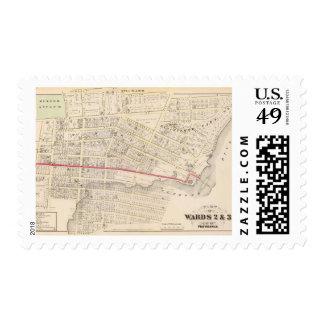 Dexter Asylum and Central Bridge Atlas Map Postage Stamp