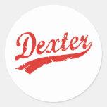 dexter classic round sticker