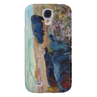 Dexter Cows on Dartmoor Acrylic Painting Poster Galaxy S4 Case