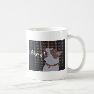 dexter deco friday yet classic white coffee mug