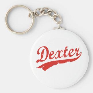 dexter basic round button keychain