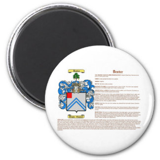 Dexter (meaning) 2 inch round magnet