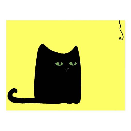 Dexter the Fat Black Cat Postcard (customizable)