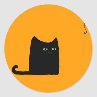 Dexter the Fat Black Cat Sticker (customizable)