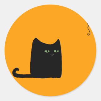 Dexter the Fat Black Cat Sticker (customizable)