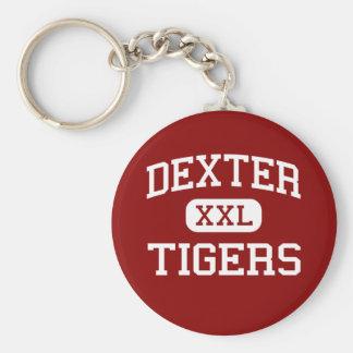 Dexter - Tigers - Middle School - Dexter Maine Basic Round Button Keychain