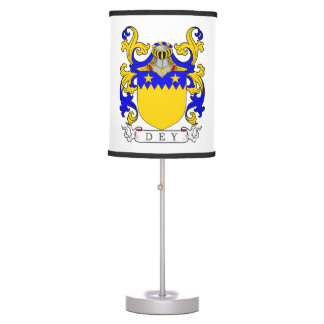 Dey Coat of Arms Table Lamp
