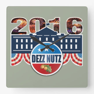 Dezz Nuts 2016 Square Wall Clock