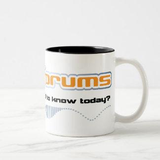 df main t logo front light Two-Tone coffee mug