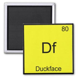 Df - Química divertida de Meme del símbolo del ele Imán Cuadrado