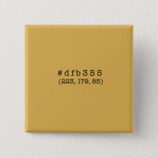 #dfb355 Square Button