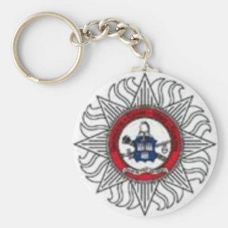 DFB Keyring Basic Round Button Keychain