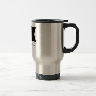 DFK black 15 Oz Stainless Steel Travel Mug