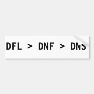 DFL>DNF>DNS BUMPER STICKER