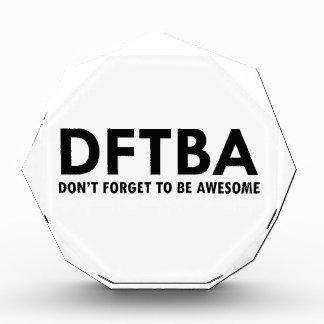 DFTBA ACRYLIC AWARD