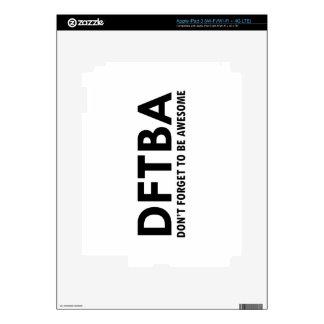 DFTBA DECALS FOR iPad 3