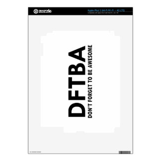 DFTBA iPad 3 PEGATINAS SKINS