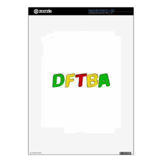 DFTBA Rasta Letters iPad 2 Decal