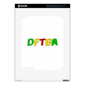 DFTBA Rasta Letters iPad 3 Skins