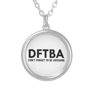 DFTBA SILVER PLATED NECKLACE