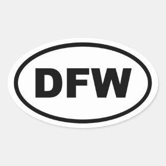 DFW Dallas Fort Worth Oval Sticker