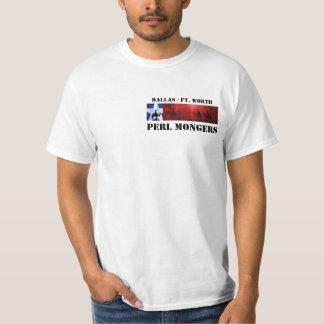 dfw, DALLAS / FT. WORTH, PERL MONGERS: TEXAS LOGO T-Shirt