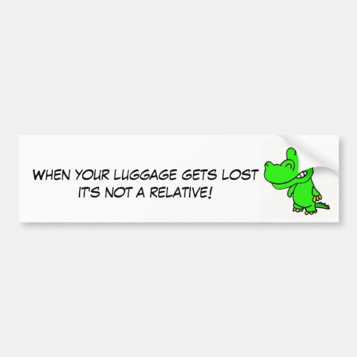 DG- Gator and Lost Luggage sticker