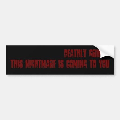 DG Nightmare Car Bumper Sticker