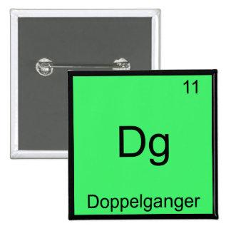 DG - símbolo divertido del elemento de la química  Pin Cuadrado