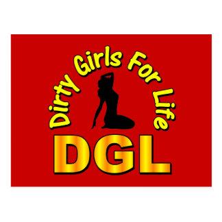 DGL Dirty Girls For Life Postcard