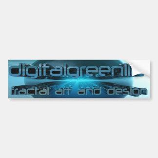 dgl logo chrome car bumper sticker