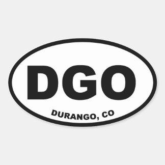 DGO Durango Colorado Calcomanías De Óvales