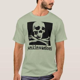 DGT SKULL RE COLORED, punkinvasion! T-Shirt