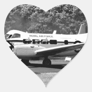 DH104 Devon aircraft Heart Sticker