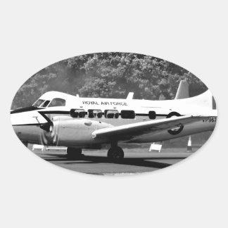 DH-104 Devon Calcomania Oval Personalizadas