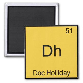 Dh - Doc Holliday Funny Chemistry Element Symbol Fridge Magnet