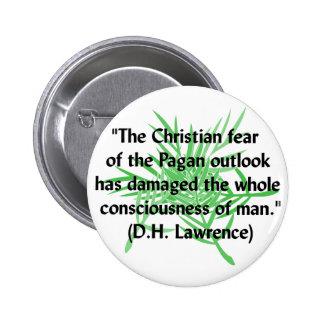 DH Lawrence Pagan Quote Pinback Button