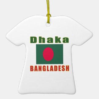 Dhaka Bangladesh  capital design Christmas Tree Ornaments