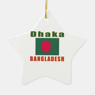 Dhaka Bangladesh  capital design Christmas Ornaments