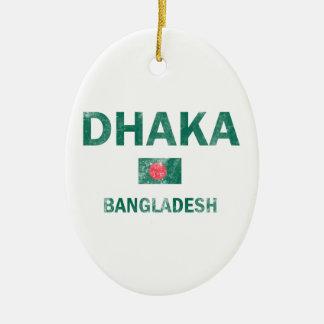 Dhaka Bangladesh designs Christmas Tree Ornament