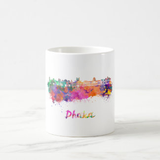 Dhaka skyline in watercolor coffee mug