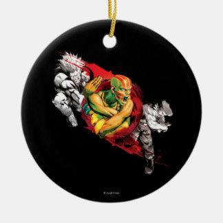 Dhalsim, Blanka & Guile Ceramic Ornament