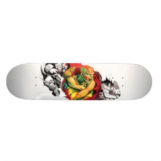 Dhalsim, Blanka & Guile Skateboard Deck