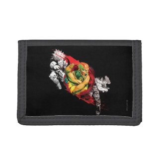 Dhalsim, Blanka & Guile Trifold Wallets