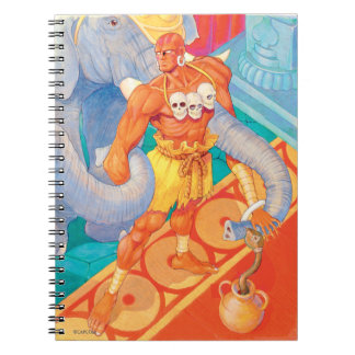 Dhalsim con los animales spiral notebooks