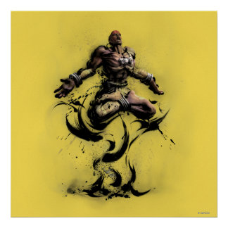 Dhalsim Floating Poster