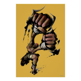 Dhalsim Long Punch Poster