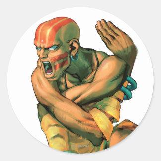Dhalsim Twisted Classic Round Sticker