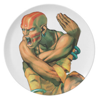 Dhalsim Twisted Dinner Plate