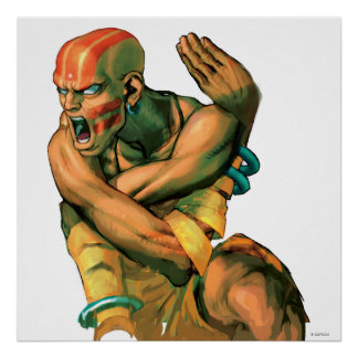Dhalsim Twisted Poster